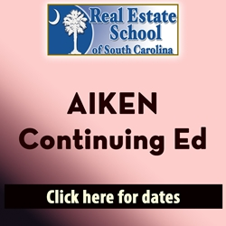 Aiken Continuing Education 10 Hours in 1 Day con ed, real estate classes, continuing education, real estate continuing ed, real estate school of sc, chip browne, steve grooms, melissa sprouse browne