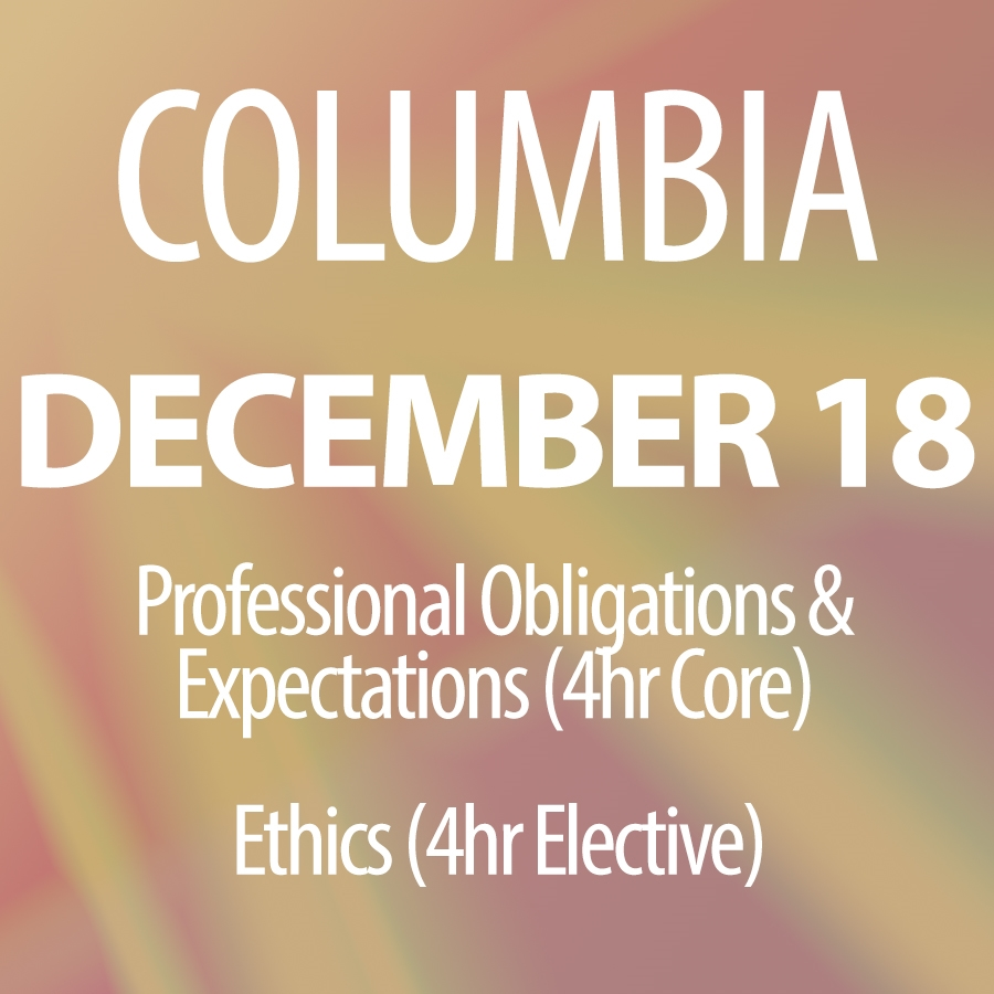 December 18, 2015: Core & How Ethics Can Equal Real Estate Success in Columbia