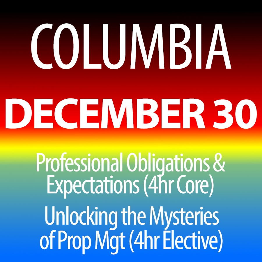December 30, 2015: Core & Unlocking the Mysteries of Property Management in Columbia