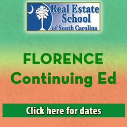 Florence Continuing Education con ed, real estate classes, continuing education, real estate continuing ed, real estate school of sc, chip browne, steve grooms, melissa sprouse browne
