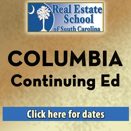 Columbia Continuing Education - 2 Hours In Person Classroom Package con ed, real estate classes, continuing education, real estate continuing ed, real estate school of sc, chip browne, steve grooms, melissa sprouse browne