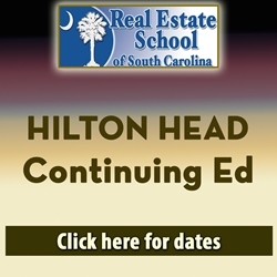 Hilton Head Continuing Education - 4 Hours in 1 Day  con ed, real estate classes, continuing education, real estate continuing ed, real estate school of sc, chip browne, steve grooms, melissa sprouse browne