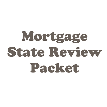 Mortgage Review - State Packet for SC Portion of MLO Exam