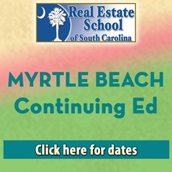 Myrtle Beach Continuing Education - 4 Hours in 1 Day  con ed, real estate classes, continuing education, real estate continuing ed, real estate school of sc, chip browne, steve grooms, melissa sprouse browne