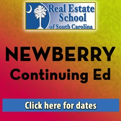 Newberry Continuing Education - 4 Hours in 1 Day  con ed, real estate classes, continuing education, real estate continuing ed, real estate school of sc, chip browne, steve grooms, melissa sprouse browne