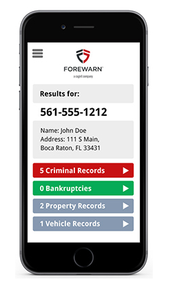 Forewarn - Background Checker for Real Estate Prospects